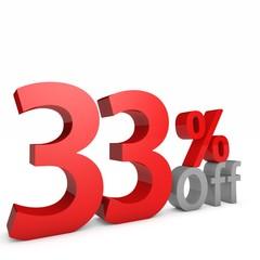 33 Percent off