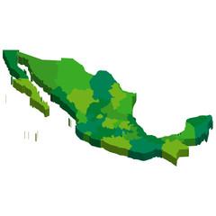 メキシコ 地図 3D 国