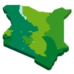 ケニア 地図 3D 国