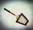 wooden framed tennis racket