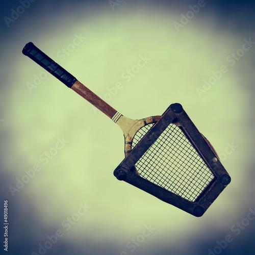 retro tennis frame