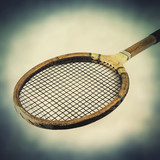 wood tennis racket