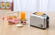 Bread toaster the kitchenware you need for preparing breakfast.