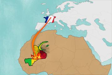 Französische Opération Serval 2013 in Mali