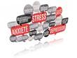 nuage de mots bulles 3d : Stress