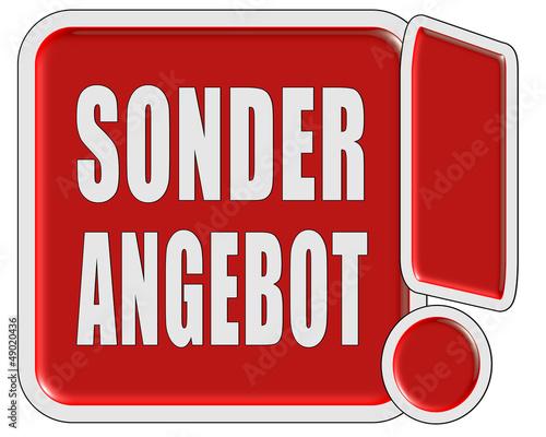 !-Schild rot quad SONDERANGEBOT