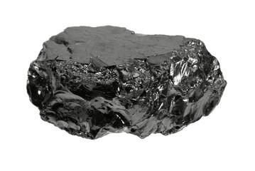 ein Stück Kohle, anthrazit, ohne Schatten, a lump of coal