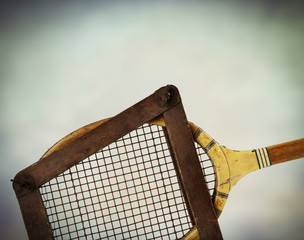 wooden tennis frame