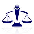 Vector icon - Justice scales