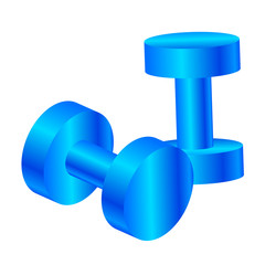 Vector illustration of blue dumbbells
