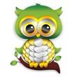 Baby Owl Paper Craft-Gufo Cucciolo di Carta-Vector
