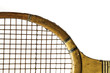 old wooden racquet