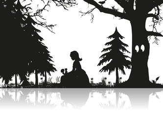 Mädchen im Wald