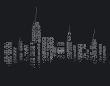 Fototapete - New York bei Nacht