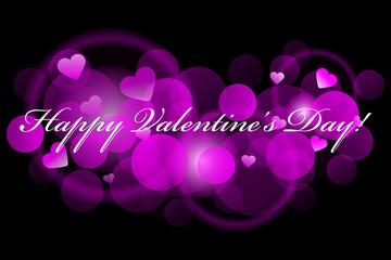 Happy Valentine's Day - pink background