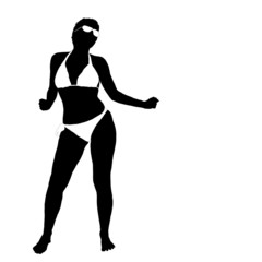 sexy girl in bikini vector illustration part two