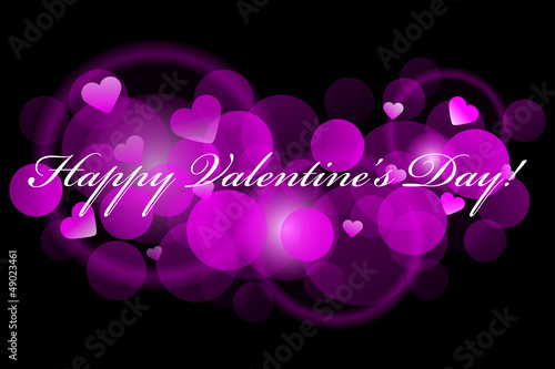 Happy Valentine's Day - pink background