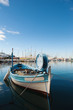 Small fishing boat in Toulon port, France.