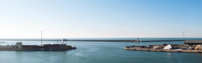 Livorno harbor panoramic view.