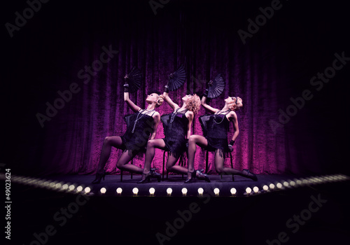 Girls on the stage. - 49023624