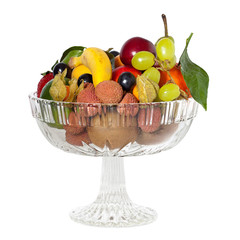 Glasschale mit Früchten - Glass bowl with fruits