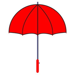 Vector illustration of red umbrella