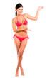 Welcoming woman in bikini