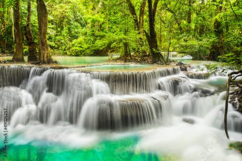 Zdjęcia na płótnie, fototapety na wymiar, obrazy na ścianę : Erawan Waterfall in Kanchanaburi Province