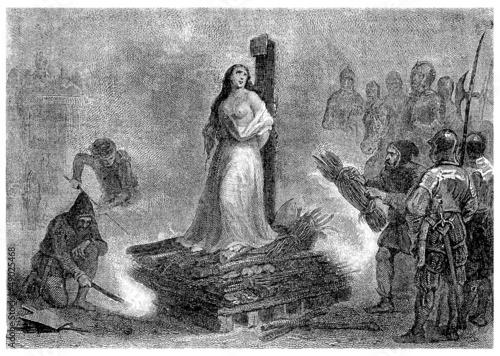 Cruel medieval Inquisition : Burning the Witch