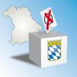 Landtagswahl Bayern Wahlurne