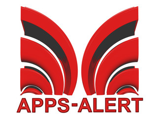 Apps Alert Sign in red
