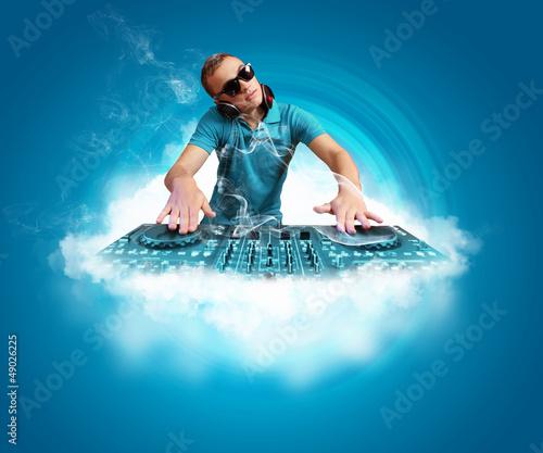 dj and mixer