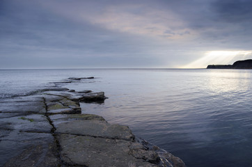 Rocky Slate Ledges at Kimmeridge