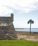 Walls of an old Fort in St. Augustine, Florida.