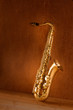 Sax golden tenor saxophone vintage retro