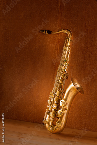 Sax golden tenor saxophone vintage retro