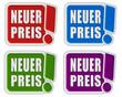 4 !-Schilder bunt NEUER PREIS