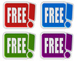 4 !-Schilder bunt FREE