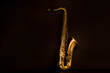 Sax golden tenor saxophone in black