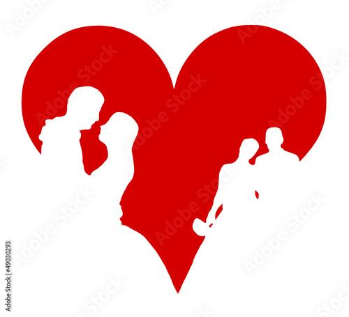 Herz Hochzeit