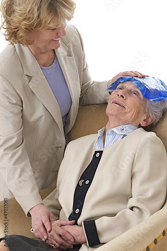 Maux de tête - Coussin glacé sur le front