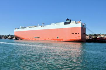 Ro-Ro Cargo Ship at Dock