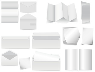 Foglietti fogli carta da lettera busta