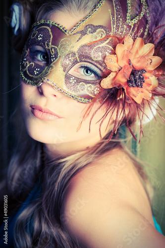 closeup mask
