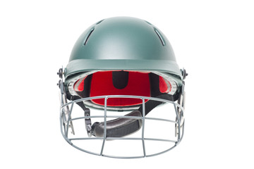 Isolated shot of a cricket helmet