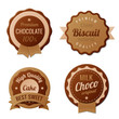 Chocolate Vintage Labels template collection. Retro vector.