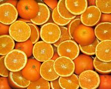 Orange-Hälfte