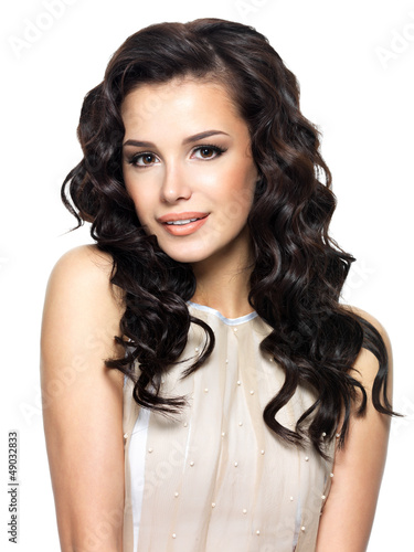 Photo of  young woman with beauty long hair.