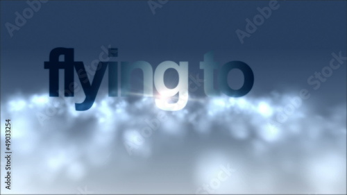 fantastic video – flying through clouds with text – loop HD