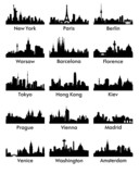 Fototapety city silhouette vector 15
